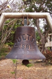 Ship's Bell on display at Thursday Island.