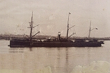 SS Quetta in the Thames at Gravesend in 1885
